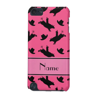 Personalized name pink rodeo bull riding pattern iPod touch 5G cover
