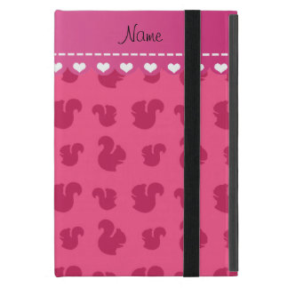 Personalized name pink squirrel pattern cover for iPad mini