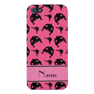 Personalized name pink sumo wrestling iPhone 5 cases