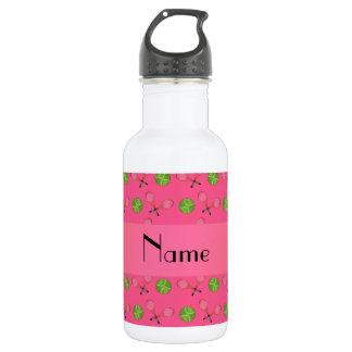 Personalized name pink tennis balls 532 ml water bottle