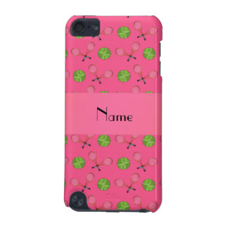 Personalized name pink tennis balls iPod touch 5G cases