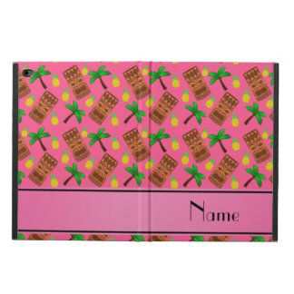Personalized name pink tiki pineapples palm trees