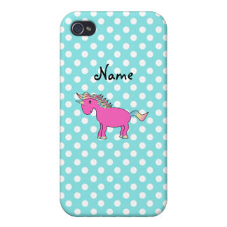 Personalized name pink unicorn case for iPhone 4