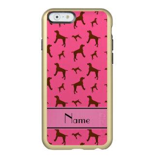 Personalized name pink Vizsla dogs Incipio Feather® Shine iPhone 6 Case