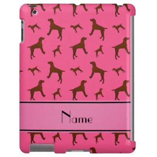 Personalized name pink Vizsla dogs iPad Case