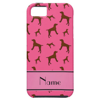Personalized name pink Vizsla dogs iPhone 5 Cover
