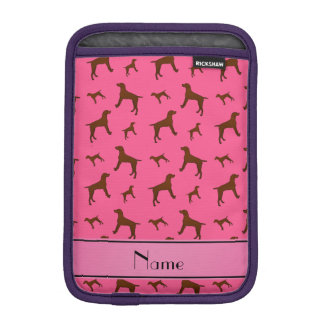 Personalized name pink Vizsla dogs Sleeve For iPad Mini