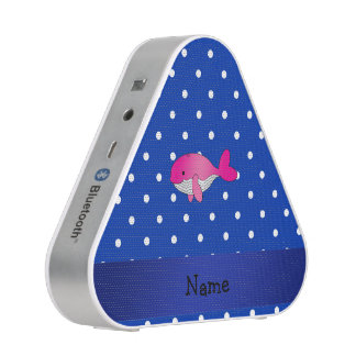 Personalized name pink whale blue polkadots