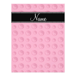 Personalized name pink ying yang pattern 21.5 cm x 28 cm flyer
