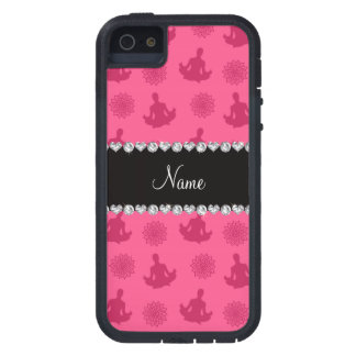 Personalized name pink yoga pattern iPhone 5 covers