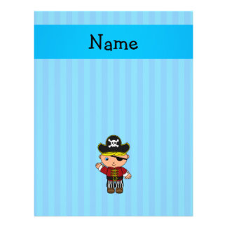 Personalized name pirate blue stripes personalized flyer