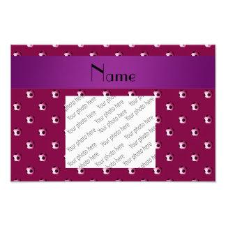 Personalized name plum purple soccer balls photograph