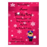 Personalized name policeman pink snowflakes personalized invitation