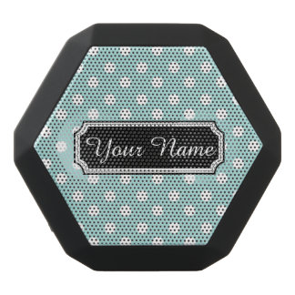 Personalized Name Polka Dots Pattern Gifts Black Boombot Rex Bluetooth Speaker