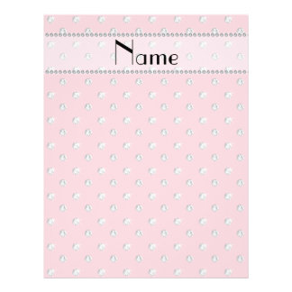 Personalized name pretty pink diamonds full color flyer