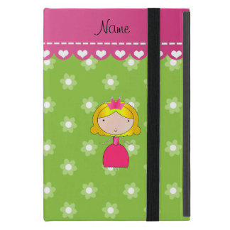 Personalized name princess green flowers case for iPad mini