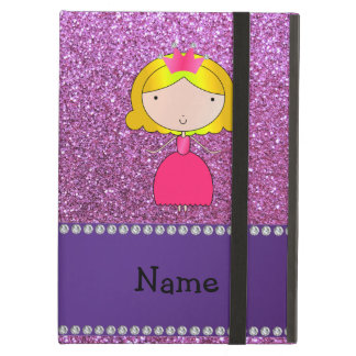 Personalized name princess pastel purple glitter iPad air cover