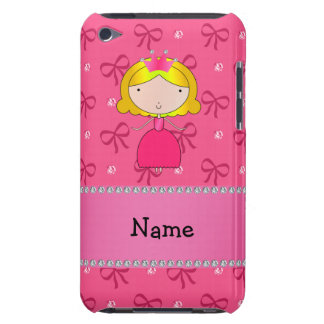 Personalized name princess pink bows and diamonds barely there iPod cases