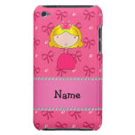 Personalized name princess pink bows and diamonds iPod touch Case-Mate case