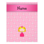 Personalized name princess pink diamonds flyers