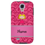 Personalized name princess pink swirls