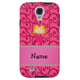 Personalized name princess pink swirls galaxy s4 case