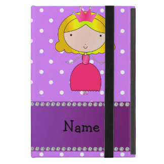 Personalized name princess purple polka dots cover for iPad mini