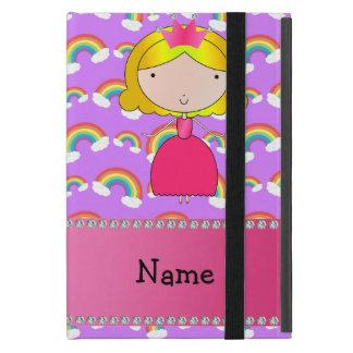 Personalized name princess purple rainbows iPad mini cover
