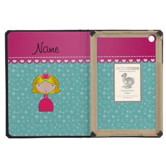 Personalized name princess seafoam green stars iPad mini covers