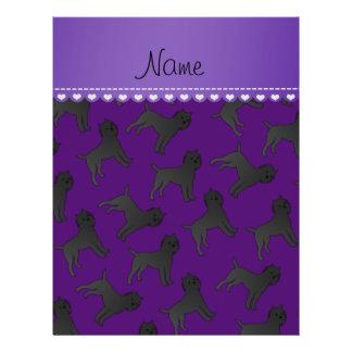 Personalized name purple affenpinscher dogs 21.5 cm x 28 cm flyer