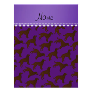 Personalized name purple american water spaniels 21.5 cm x 28 cm flyer