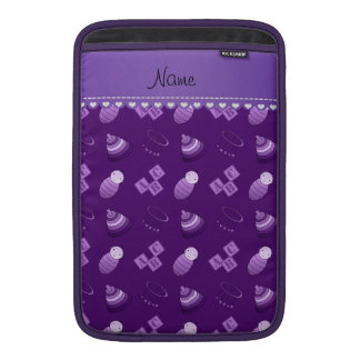 Personalized name purple baby blocks mobile toys MacBook sleeve