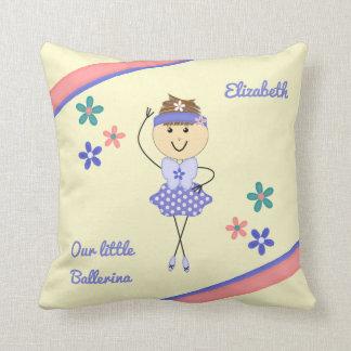 Personalized name purple ballerina cushion