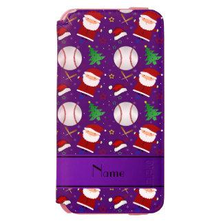 Personalized name purple baseball christmas incipio watson™ iPhone 6 wallet case