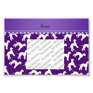 Personalized name purple bedlington terrier dogs photo