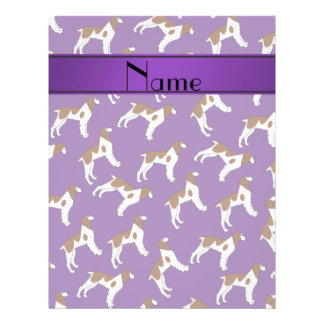 Personalized name purple brittany spaniel dogs 21.5 cm x 28 cm flyer