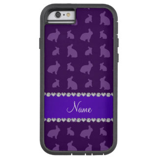 Personalized name purple bunnies tough xtreme iPhone 6 case