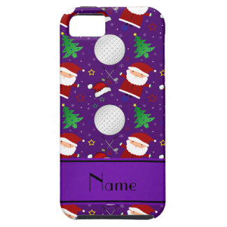 Personalized name purple christmas golfing case for iPhone 5/5S