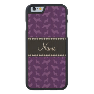 Personalized name purple cocker spaniel carved® maple iPhone 6 case