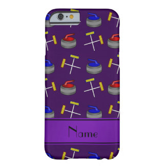 Personalized name purple curling pattern iPhone 6 case