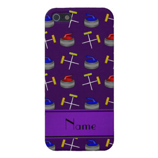 Personalized name purple curling pattern cover for iPhone 5