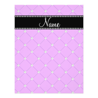 Personalized name Purple diamonds Personalized Flyer