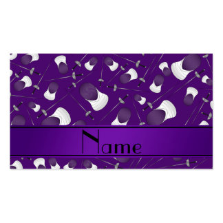 Personalized name purple fencing pattern pack of standard business cards
