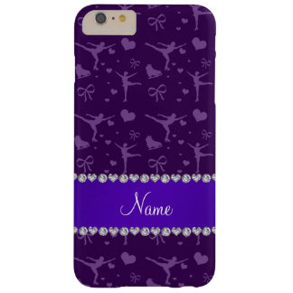 Personalized name purple figure skating barely there iPhone 6 plus case