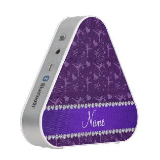 Personalized name purple figure skating bluetooth speaker