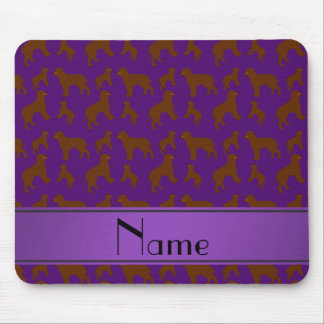 Personalized name purple Irish Water Spaniel dogs Mouse Pad