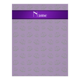 Personalized name purple justice scales 21.5 cm x 28 cm flyer