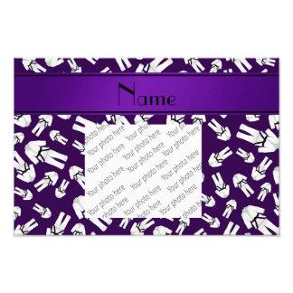 Personalized name purple karate pattern photograph