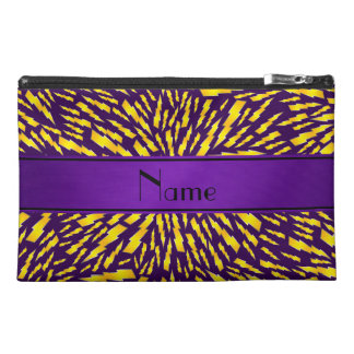 Personalized name purple lightning bolts travel accessories bags