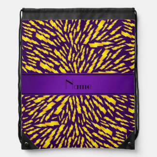 Personalized name purple lightning bolts backpack